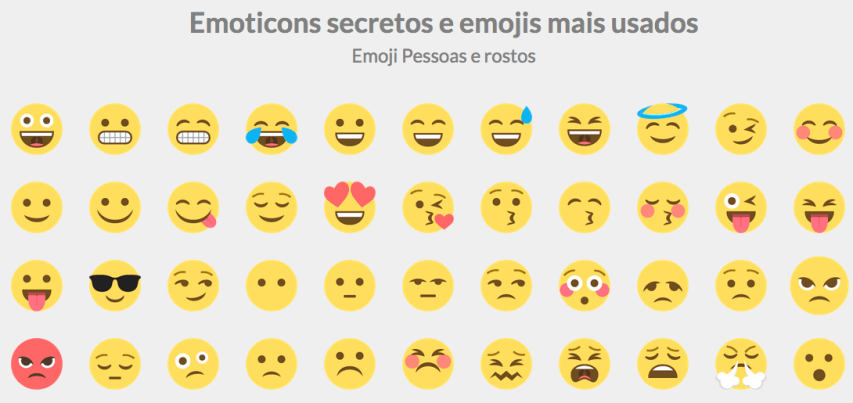 Nova p gina de emoticons secretos para facebook emoticons for Emoticones para instagram