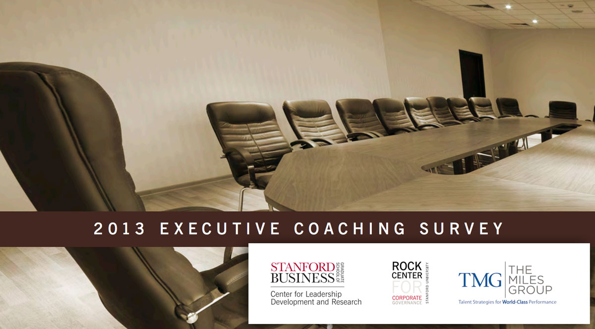 Executive Coaching Surveys, report cover.