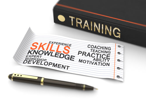 Skills training book and ticket by ICF.