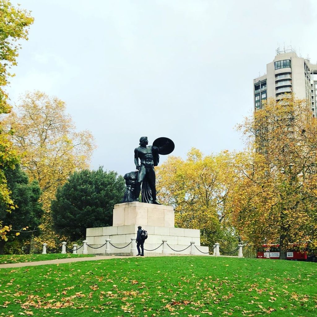 Achilles statue in Hyde Park London.