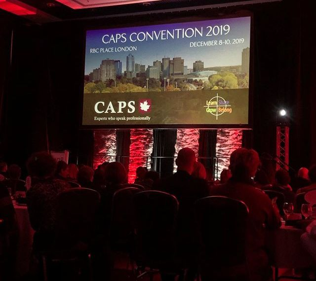 Learning a ton of great new ideas at the Canadian Association of Professional Speakers Conference