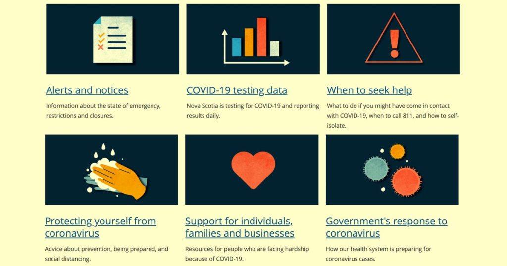 COVID-19 health response graphic.