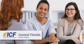 ICF Central Florida members meeting up to discuss coaching and emotional intelligence.