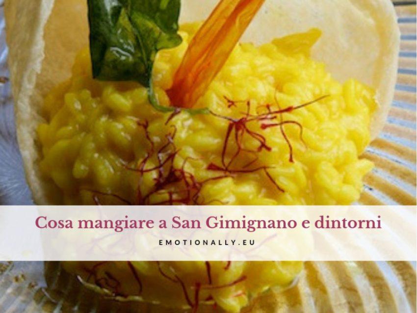 Mangiare a San Gimignano