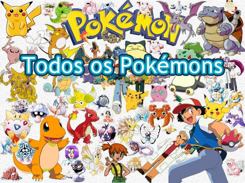 lista de pokémons com os nomes e imagens de todos