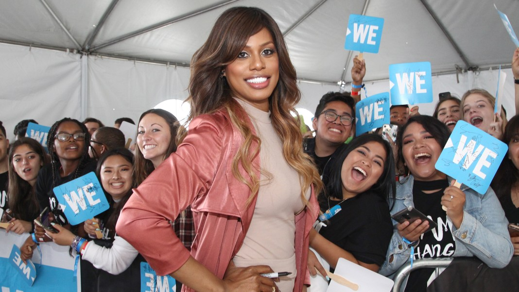 INGLEWOOD, CA - APRIL 27:  Actor Laverne Cox attends WE Day California to celebrate young people changing the world at The Forum on April 27, 2017 in Inglewood, California.  (Photo by Tommaso Boddi/Getty Images for WE)