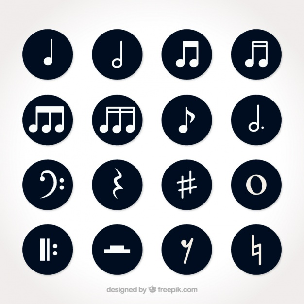set-of-white-musical-notes-with-round-backgrounds_23-2147594442