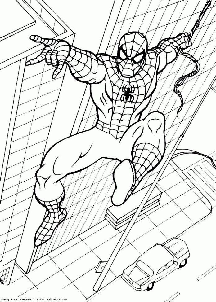 85 Desenhos Do Homem Aranha Para Colorir