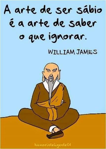 Frase sábia de William James
