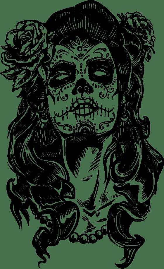 vinilo-calavera-mexicana