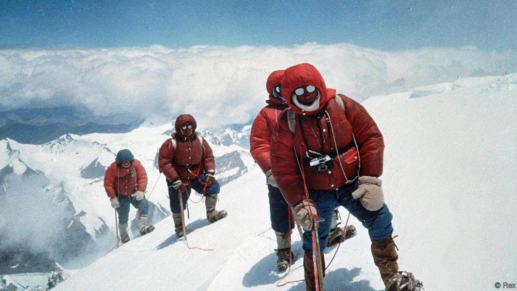 Mandatory Credit: Photo by PACIFIC PRESS SERVICE/REX Shutterstock (74862d) CLIMBERS ON MOUNT EVEREST MOUNT EVEREST, HIMALAYAS - 1979