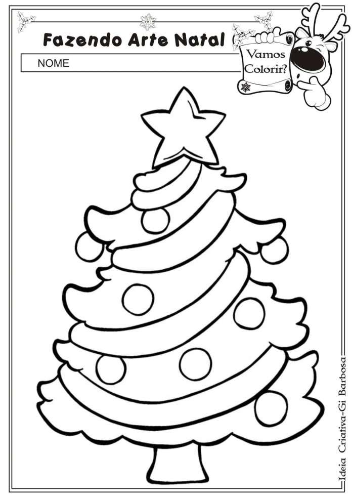 Desenhos De Natal Para Colorir E Coloridos