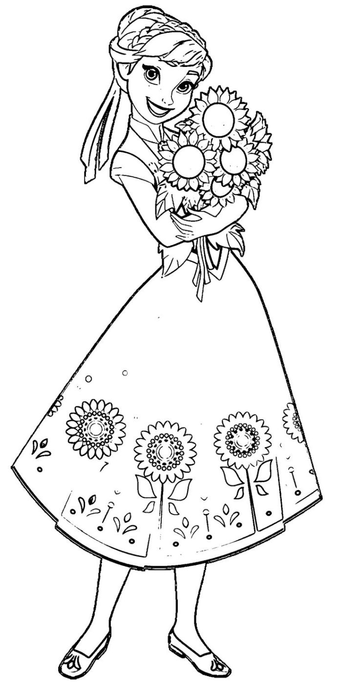 Coloring Pages Baby Anna And Elsa Printable Lizzie Mcglynn