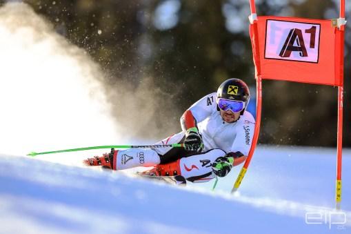 Sportfotografie Ski Riesentorlauf Training Marcel Hirscher Reiteralm - emotioninpictures / Mario Bühner