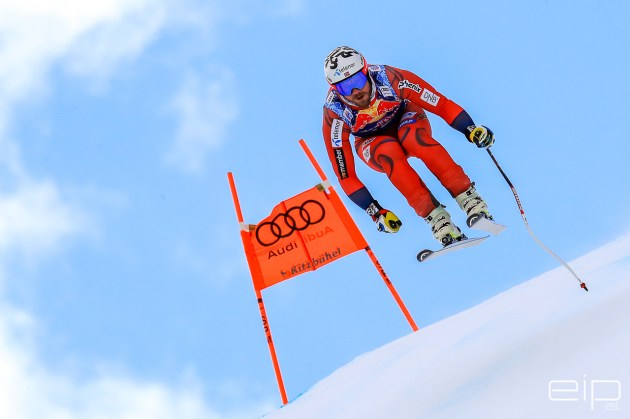 Sportfotografie Abfahrt Ski Weltcup Kjetil Jansrud Kitzbühel - emotioninpictures / Mario Bühner