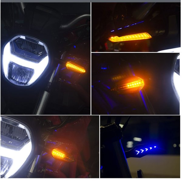 Spirit Beast Motorcycle Modified Turn Signal Lights Dynamic Style