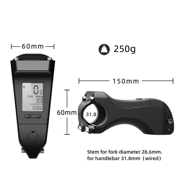 Waterproof Bike Stem Speedometer