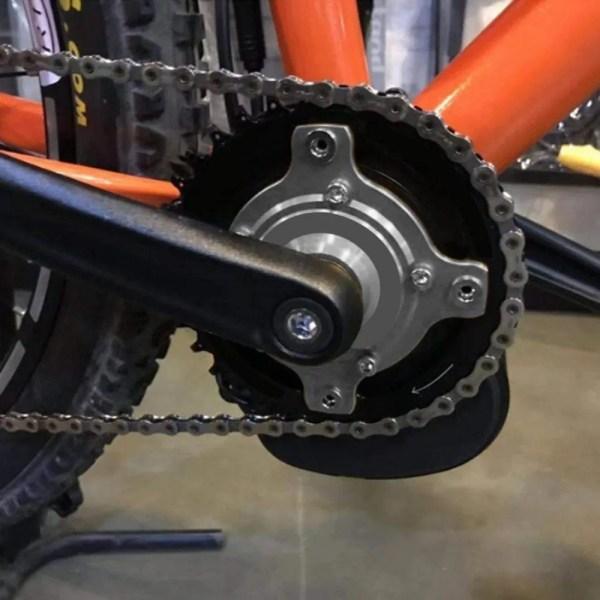 E-Bike Chain Wheel Ring Spider Adapter 104 BCD for TONGSHENG TSDZ2
