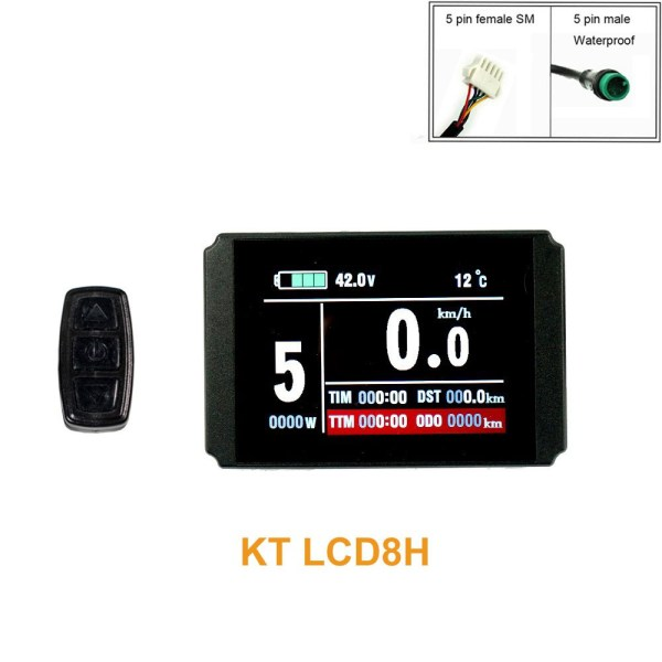 Ebike Colourful Display KT LCD8H USB Control Panel