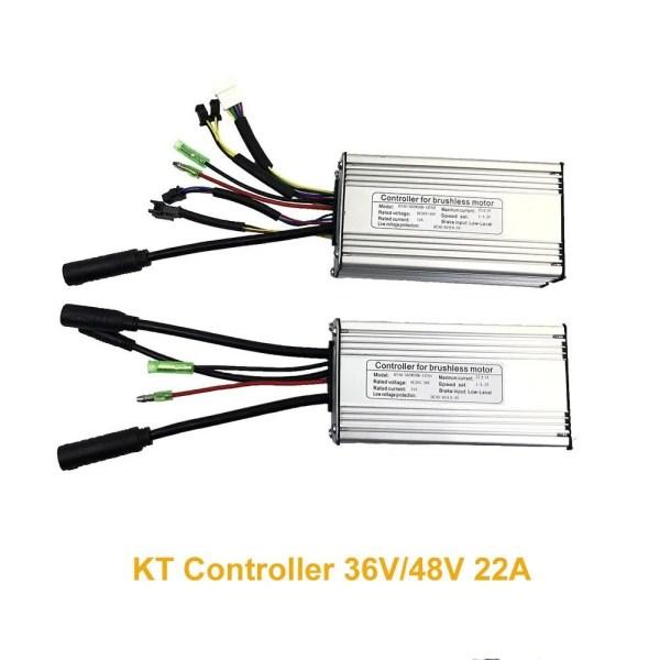 36V 48V 22A KT Controller 9-Tube Ebike Speed Motor Controller for 500W 750W