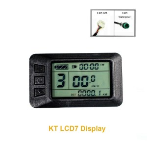 Electric Bike Intelligent Display 24V 36V 48V KT- LCD7 Control Panel with USB Function