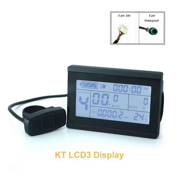 Ebike 24V 36V 48V Display KT-LCD3 LCD Display Meter for Bicycle Modification