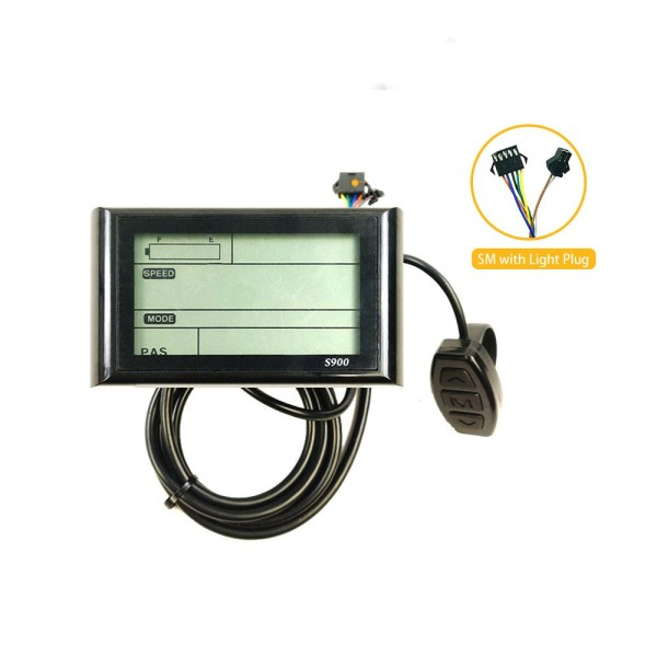 Ebike LCD-S900 36V 48V Intelligent Display Electric Bicycle LCD Control Panel