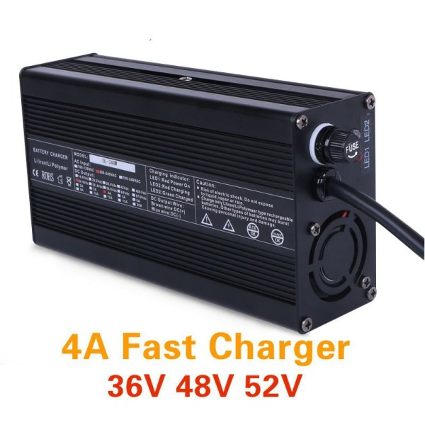 Ebike 4A Charger 36V 48V 52V Lithium Battery Fast Charger