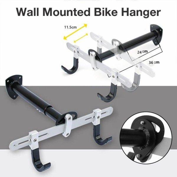 Bicycle Rack Garage Wall Mounted Bike Hanger Storage System Vertical Hook