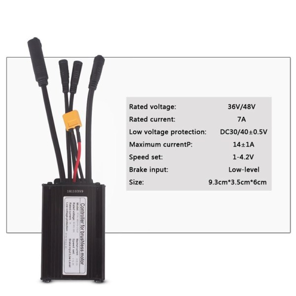 36V250W 48V 350W 14A 6 Mosfet Brushless Controller Waterproof Connector