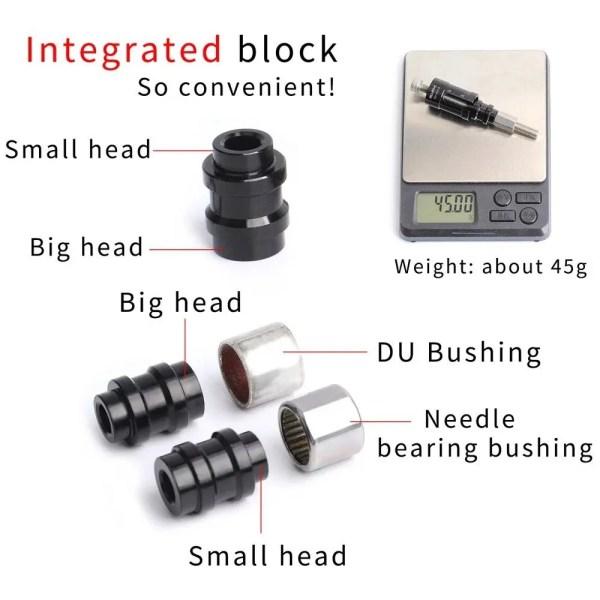 MTB Rear Shocks Bushing Install Removal Tool  For DH Mountain Cycling Needle Bearing DU Bushing