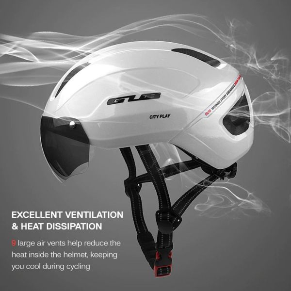 GUB Bike Helmet With goggles Light weight Integrally Molded MTB Bicycle Safety City Helmet