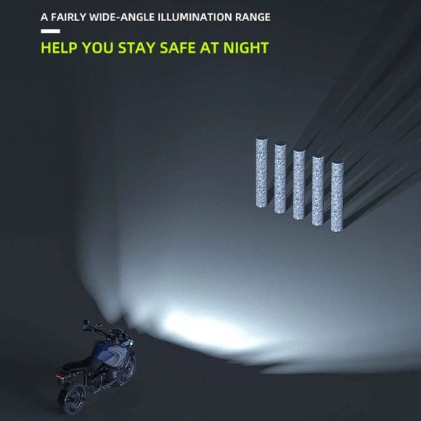 Motorcycle Universal Auxiliary Strobe Light Spotlight Electric Motorcycle LED highlight
