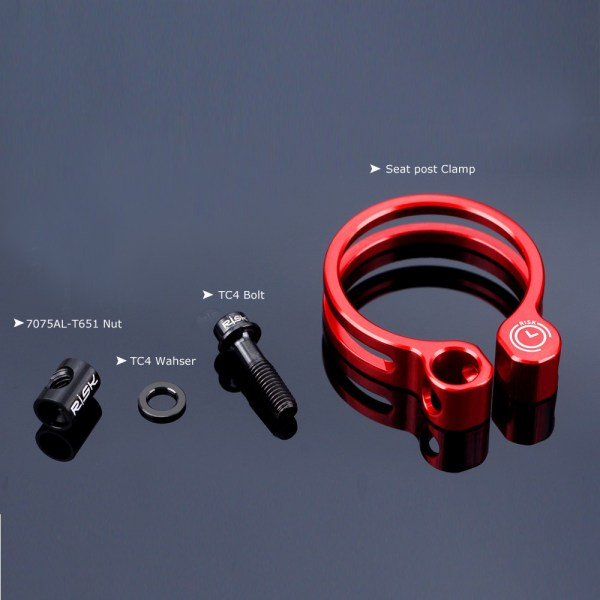MTB Road Bike Bicycle Quick Release 31.8mm 34.9mm Seatpost Clamp Seat Post Tube Collar Clip