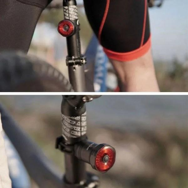 Bicycle Flashlight Taillight Bike Auto Start/Stop Brake Sensing Waterproof Bike Light