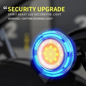 Motorcycle LED Light 12V Electric Motorcycle Highlight Warning Light Motocross External Auxiliary Light