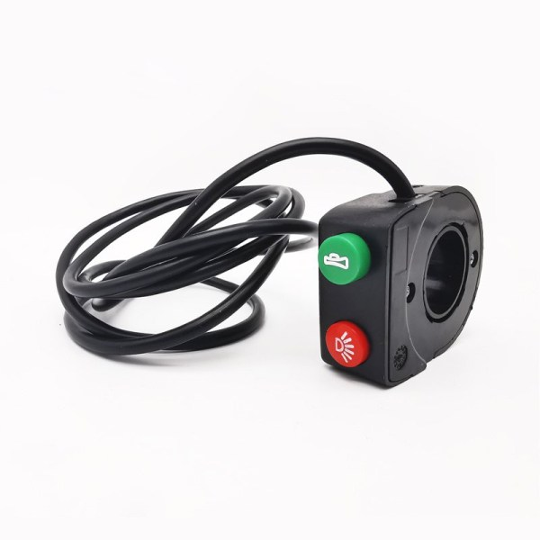 Ebike Light and Horn Double Function Switch Electric Bike Headlight Horn Control Switch