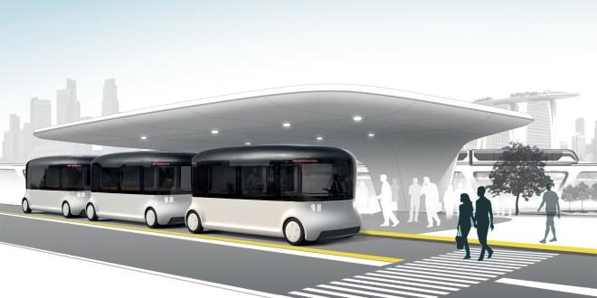 Tak by mohly vypadat autonomní autobusy v blízké budoucnosti