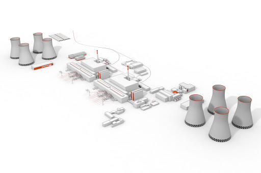 Schéma jaderné elektrárny Dukovany