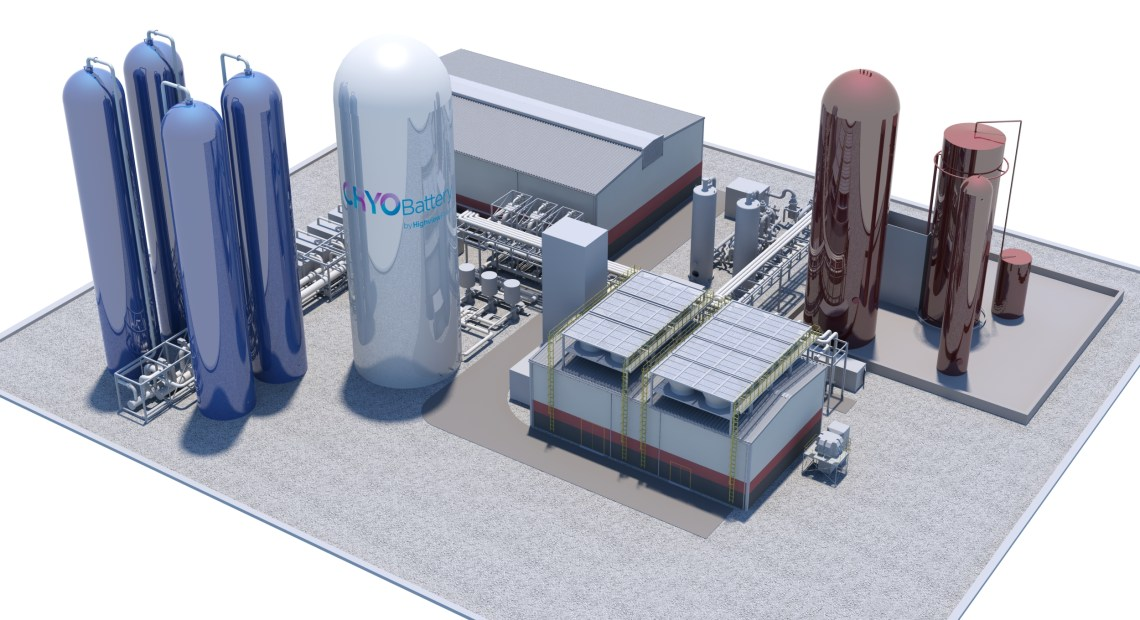Takhle by měl vypadat provoz schopný uskladnit 250 MWh energie ve zkapalněném vzduchu (kredit: Highview Power)
