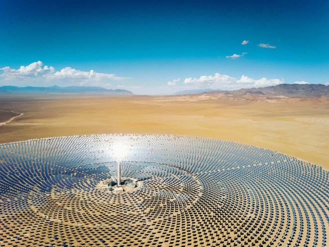 Solární termální elektrárna (foto Heliogen)