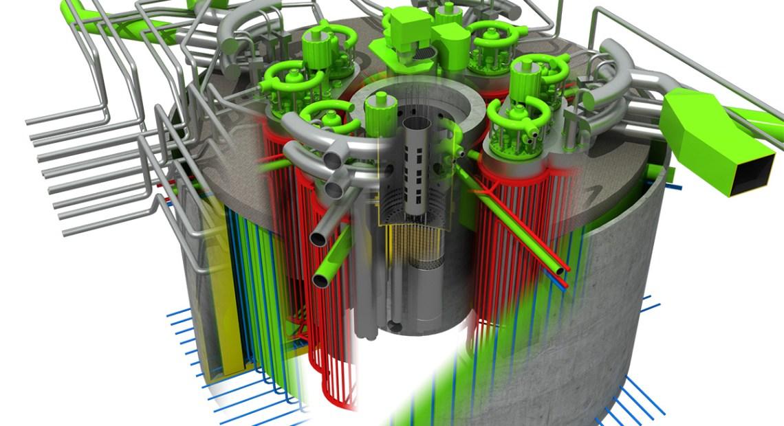 Model reaktoru Brest-OD-300 (foto Rosatom)