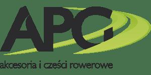 Grafika przedstawia logo APG - akcesoria i części rowerowe