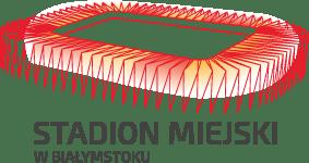 Grafika przedstawia logo Stadionu Miejkiego w Białymstoku