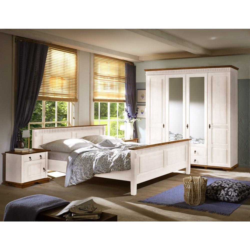Schlafzimmer Kiefer Weiss