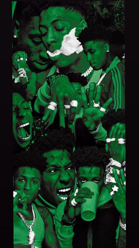 Green NBA YoungBoy Wallpaper