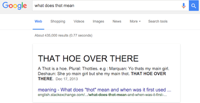 What does the word thot mean?
