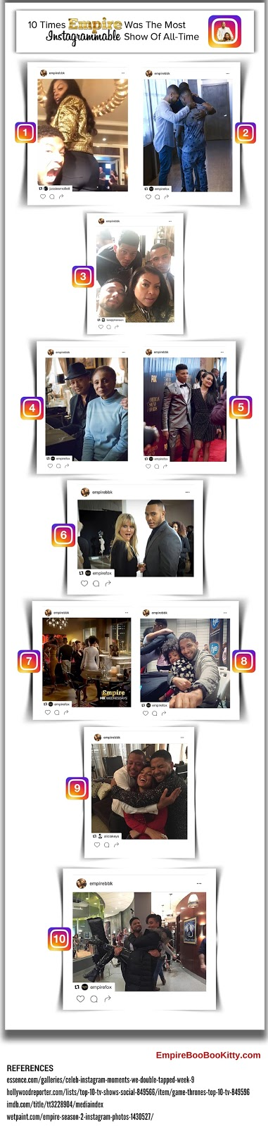Empire Fox Instagram Infographic