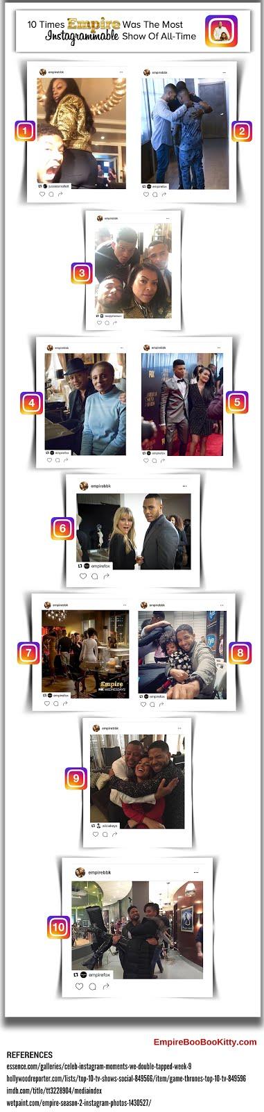 Empire Fox Instagram Infographic