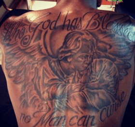 Tristan Thompson Back Tattoo